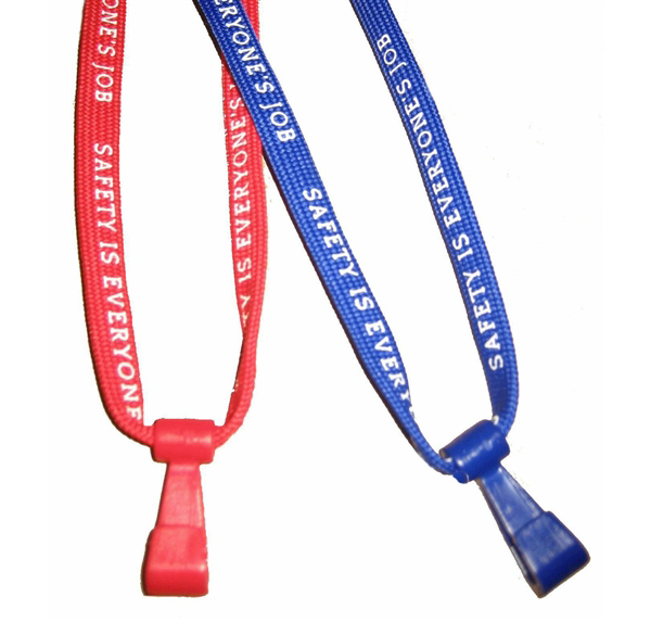 "Picture of 3/8"" ""SAFETY IS EVERYONES JOB"" Breakaway Lanyard"