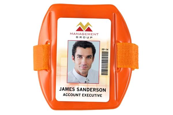 Picture of Fluorescent Orange ArmBand Badge Holders