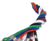 """Picture of 1/8"""" Round 36"""" Cord Lanyard with NPS Bulldog Clip - Several Colors to choose from."""