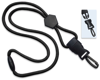 """Picture of 1/4"""" Round Lanyard with a Breakaway, Diamond Shaped Slider & Your Choice of Detachable end pieces."""